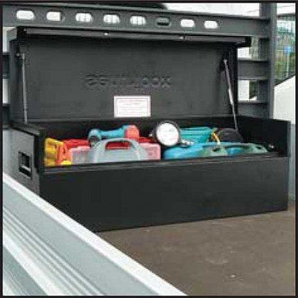 Sentribox XLOCK 515 Van Box 1273mm wide lid open on truck