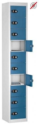 8 Door 8 Tablet Storage Locker  - Probe TABBOX 8D - Blue