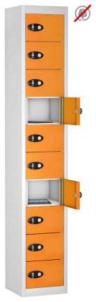 8 Door 8 Tablet Storage Locker  - Probe TABBOX 8D - orange