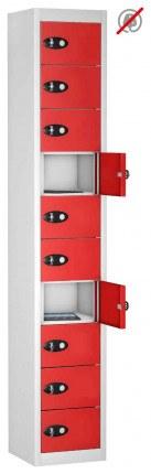 8 Door 8 Tablet Storage Locker  - Probe TABBOX 8D - red
