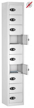 8 Door 8 Tablet Storage Locker  - Probe TABBOX 8D - white