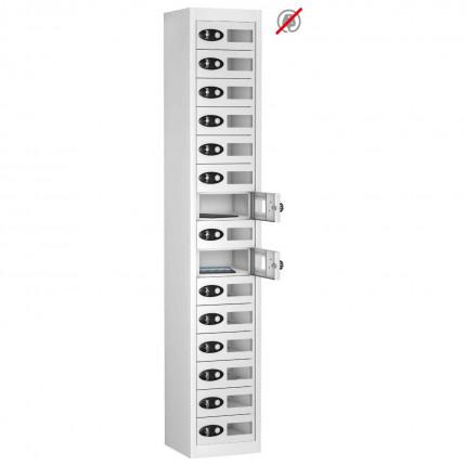 Probe TABBOX 15 Vision Door Tablet Storage Locker in white