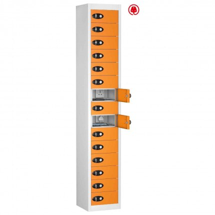 Probe TABBOX 15 Door USB Charging Tablet Locker - Orange Door