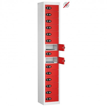 Probe TABBOX 15 Door Tablet Storage Locker in Red