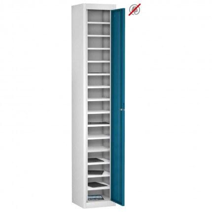 Probe TABBOX 1 door15 Shelf Tablet Storage Locker in Blue