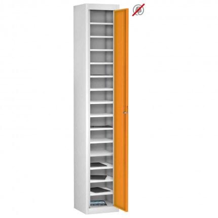 Probe TABBOX 1 door15 Shelf Tablet Storage Locker in orange