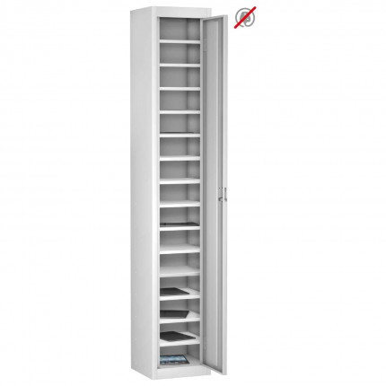 Probe TABBOX 1 door15 Shelf Tablet Storage Locker in white