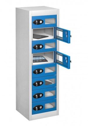 Probe TABBOX 8 Tablet Storage Locker with 8 Vision Doors - blue