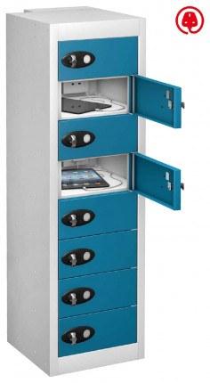 Probe TABBOX 8 Door USB Charging Tablet Locker - Blue Door