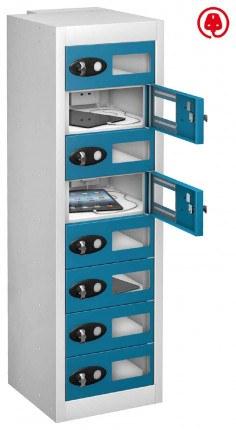 Probe TabBox 8 Tablet USB Charging Vision Locker - Blue Door