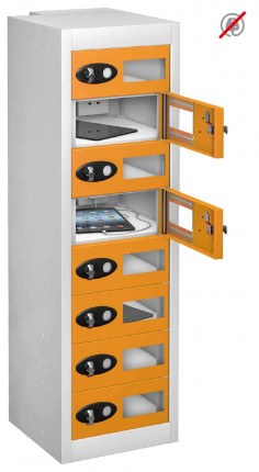 Probe TABBOX 8 Tablet Storage Locker with 8 Vision Doors - orange