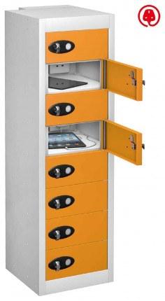 Probe TABBOX 8 Door USB Charging Tablet Locker -Orange Door