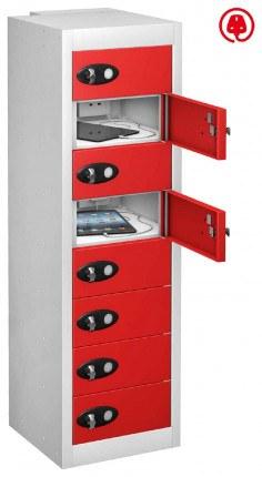 Probe TABBOX 8 Door USB Charging Tablet Locker - Red Door