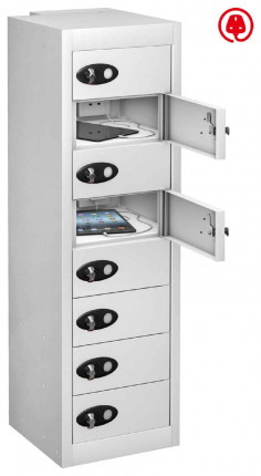 Probe TABBOX 8 Door USB Charging Tablet Locker - White