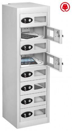 Probe TabBox 8 Tablet USB Charging Vision Locker - White
