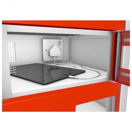 Probe TabBox Vision Door close up of inside the charging locker