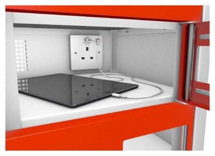 Probe TabBox 8 Tablet USB Charging Vision Locker - close up