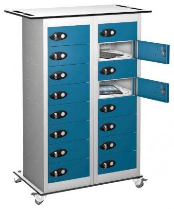 Probe TABBOX 16 Door Charging Storage Trolley in Blue