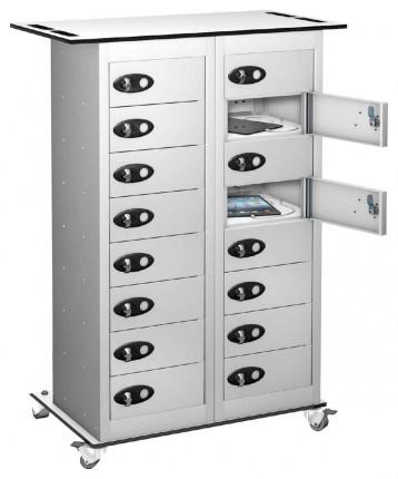 Probe TABBOX 16 Door Charging Storage Trolley in white