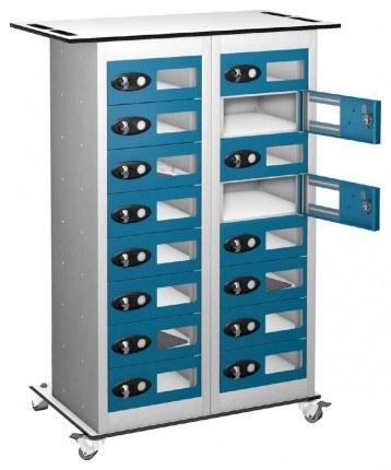 Probe TABBOX 16 Vision Door Charging Storage Locker in Blue