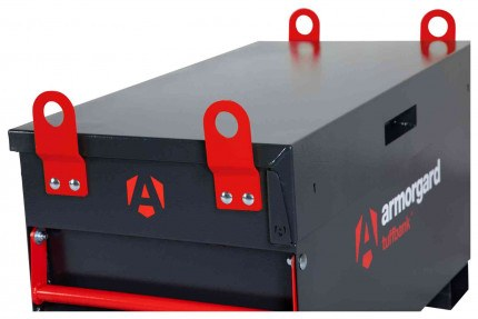 Armorgard Tuffbank TB2 Security Tested Site Tool Storage Box - cwith optional crane lifting eyes