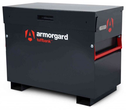 Armorgard Tuffbank TB3 Security Tested Site Tool Storage Box - closed