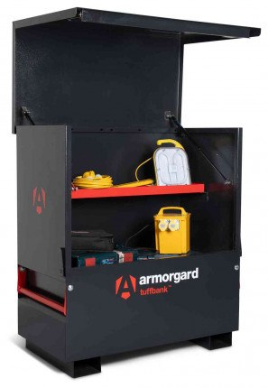 Armorgard Tuffbank TBC4 Security Tested Site Tool Chest - in use