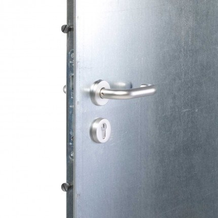 Temporary Steel Door - Armorgard TuffDor TD1 - lock