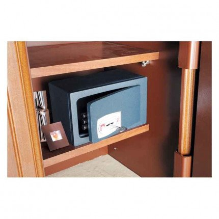 Technomax MB-0 Mini Security Wardrobe Safe fitted into a wardrobe
