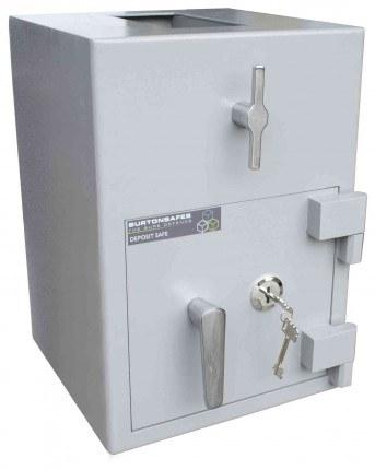 Burton Teller Rotary Drum Deposit Drop Safe Size 1 Key Lock - closed