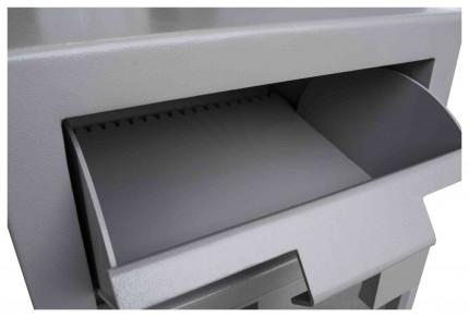Burton Teller 2E Electronic V-Trap Drawer Deposit Safe - hopper open