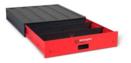 Armorgard Trekdror TKD2 Van Security Tool Storage Lockable Wide Drawer  - open