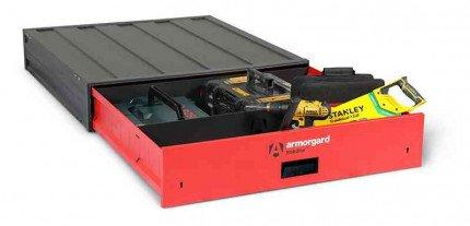 Armorgard Trekdror TKD2 Van Security Tool Storage Lockable Wide Drawer  - with contents