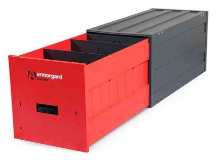 Armorgard Trekdror TKD3 Van Security Tool Storage Locking High Drawer - fitted with dividers