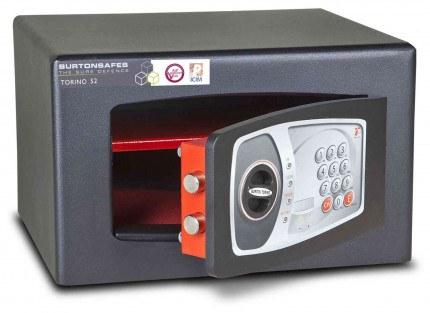 £4000 Cash Digital Security Safe - Burton Torino NMT/3P - door ajar