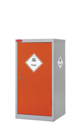 Probe Toxic COSHH Small Steel Cabinet with Dished Top