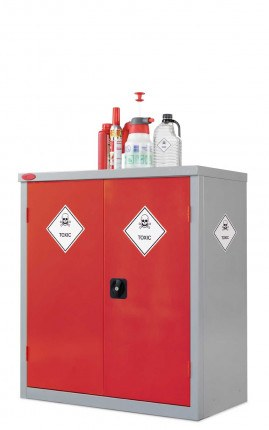 Probe Toxic COSHH Low 2 Door Low Steel Cabinet