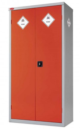 Probe Toxic COSHH  8 Compartment 2 Door Steel Cabinet