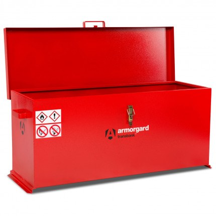 Armorgard Transbank TRB6 Portable Flammable Box 1280mm wide - Open