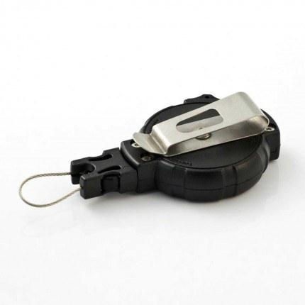 T-Reign 120cm Kevlar Cord Heavy Duty Key Reel showing Clip On Belt