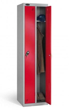 Probe Twin Locker 1780x460x460 key locking red door open