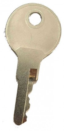 Probe Service Number Finder Key for Probe Type K and W Lock  - reverse face