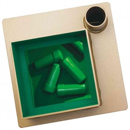 Phoenix Tarvos UF0643KD £4000 Floor Deposit Safe showing cash capsules
