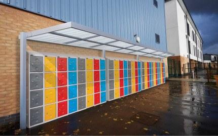 Ultrabox Weather Resistant Plastic Locker Installation outdoors under shelter