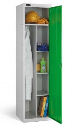 Probe Janitors Supplies Locker 1780x460x460 green door open