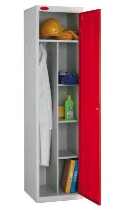 Probe Janitors Supplies Locker 1780x460x460 red door open
