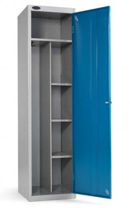 Probe Janitors Supplies Locker 1780x460x460 blue door open