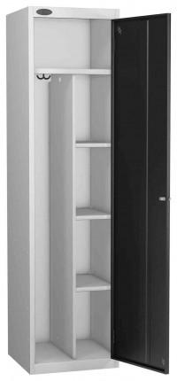 Probe Uniform Key Locking Locker 1780x460x460mm black door open