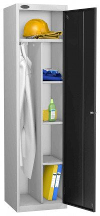 Probe Cleaner and Janitor Supplies Combination Locking Locker black