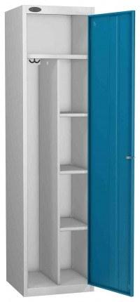 Probe Uniform Key Locking Locker 1780x460x460mm blue door open